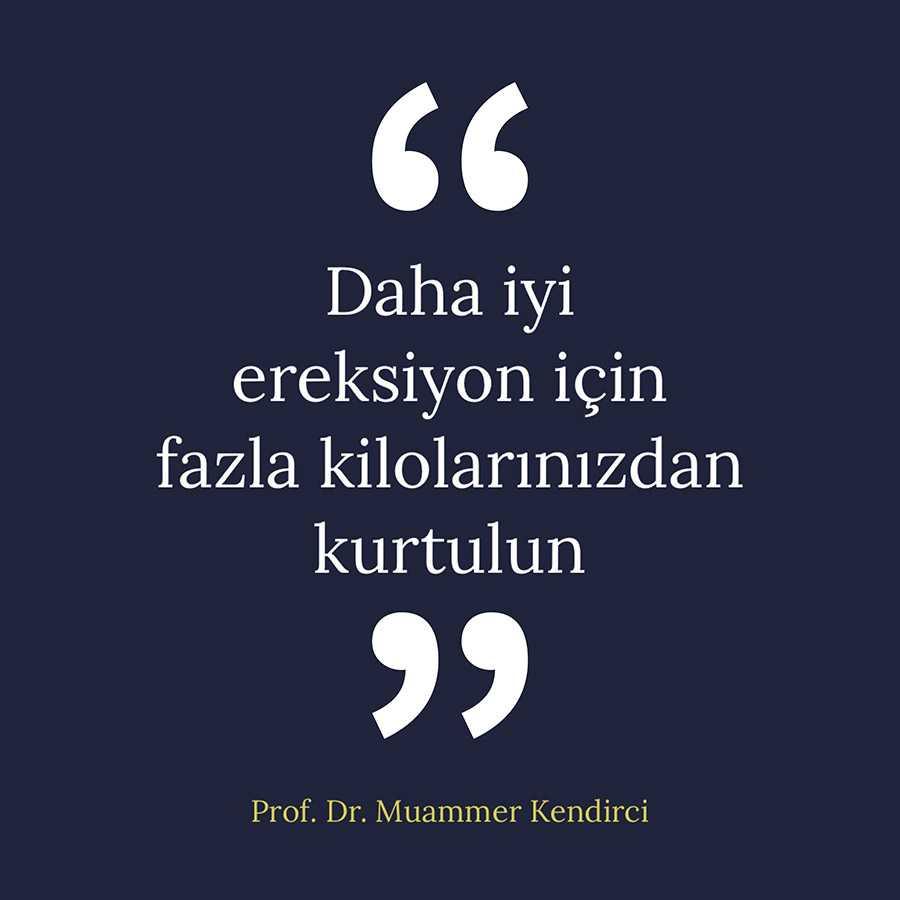 Daha iyi ereksiyon için fazla kilolarınızdan kurtulun - Prof. Dr. Muammer Kendirci