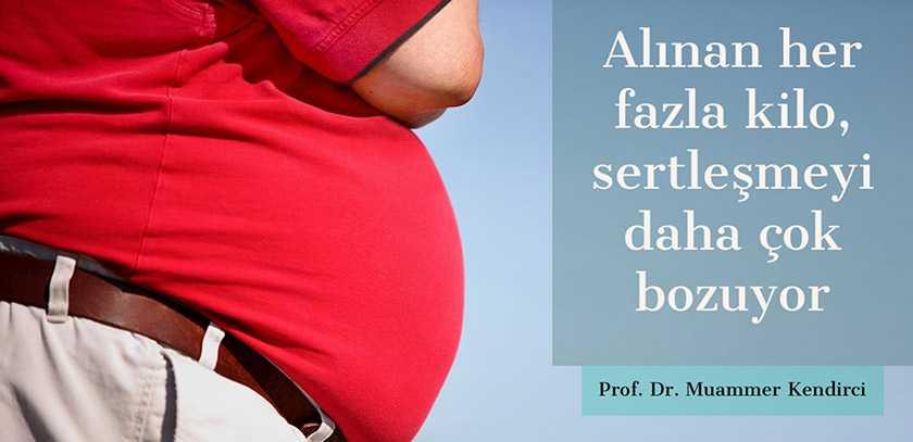 Alınan her fazla kilo sertleşmeyi daha çok bozuyor - Prof. Dr. Muammer Kendirci
