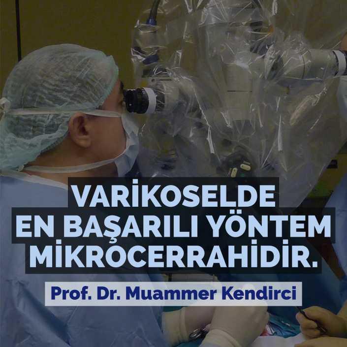 Varikoselde en başarılı yöntem mikrocerrahidir